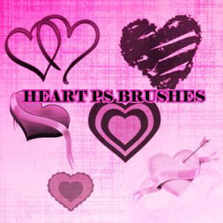 爱心、心形图案、情人节爱心装饰Photoshop笔刷素材 爱心笔刷 情人节笔刷 心形笔刷  love brushes