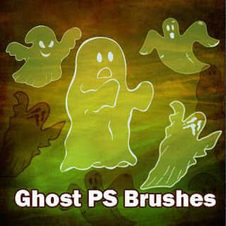 可爱幽灵图案Photoshop闹鬼笔刷 幽灵笔刷  %e5%8d%a1%e9%80%9a%e7%ac%94%e5%88%b7