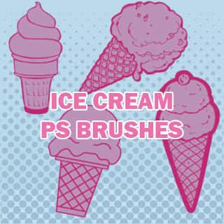 可爱卡通冰淇淋甜筒Photoshop笔刷素材 美图笔刷 甜筒笔刷 可爱笔刷 卡哇伊笔刷 冰淇淋笔刷  %e5%8d%a1%e9%80%9a%e7%ac%94%e5%88%b7