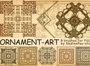 Ornament_art_brushes_by_NadinePau_stock