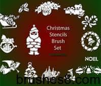 Christmas_Stencils_Brush_Set_by_ElleAyeEsAy
