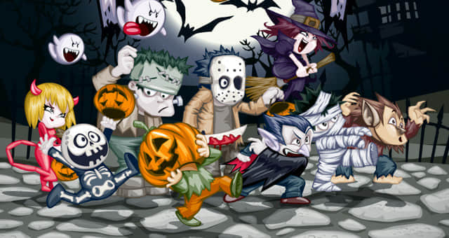 001-halloween-trick-or-treat-vector-characters-horror-illustration-vector-elements