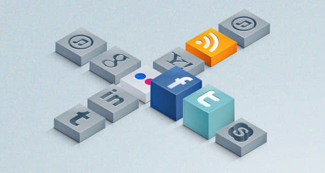 3-D-isometric-social-icons-set-01