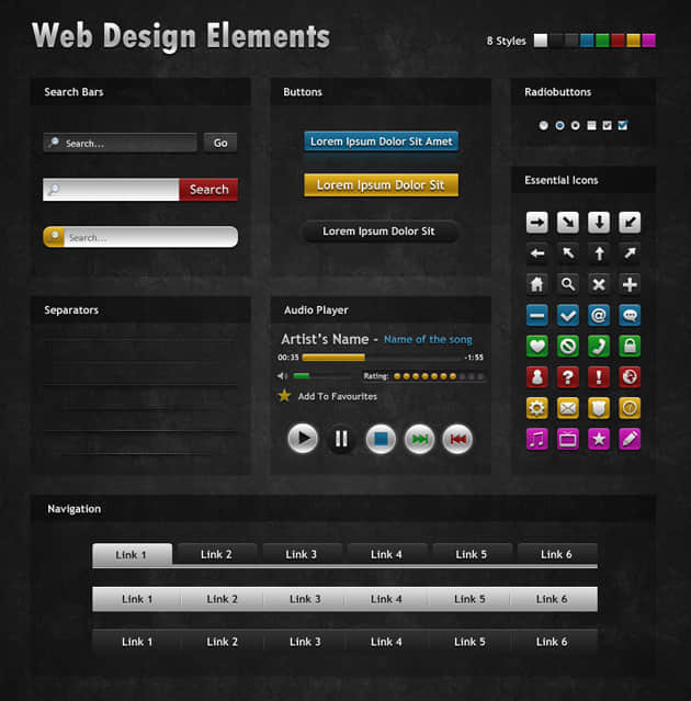 Dark-Web-Design-Elements_main