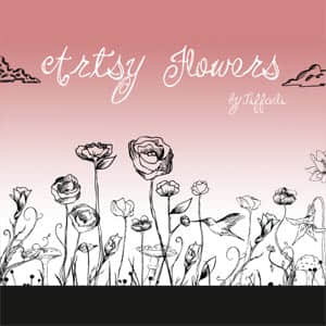 分解的装饰花朵笔刷 玫瑰花  flowers brushes plants brushes