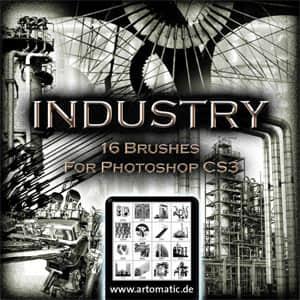 16个工业元素笔刷
