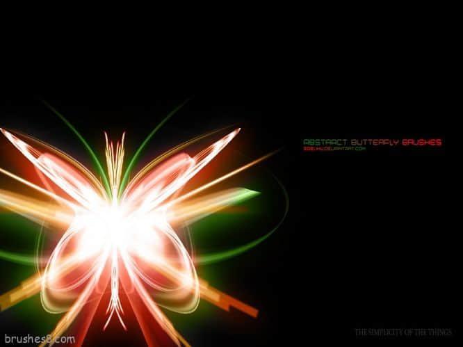 抽象光线蝴蝶笔刷