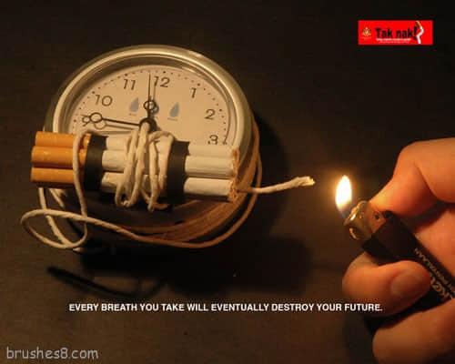 53个禁止吸烟的公益创意广告图片