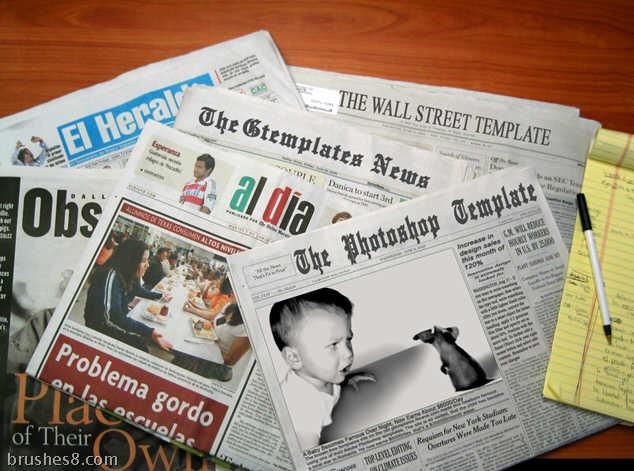 报纸素材psd模版