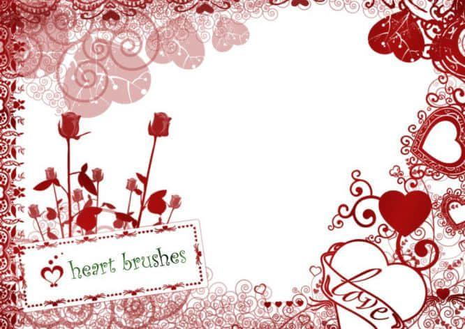 适用于情人节卡片的花纹背景笔刷