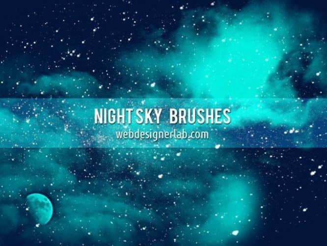 夜晚灿烂的星空笔刷