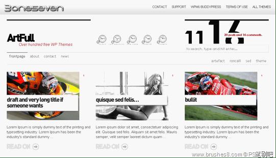 15款最新最时尚的杂志wordpress主题下载 wordpress主题模版  web psd