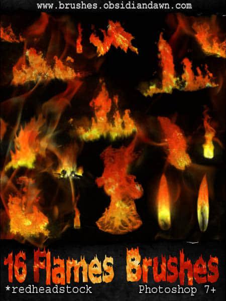 16种火焰火苗笔刷