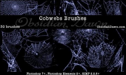 多种造型的蜘蛛网笔刷
