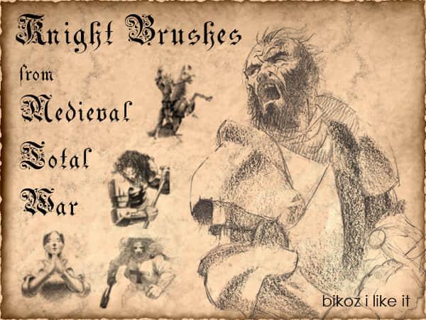 素描古欧洲人笔刷