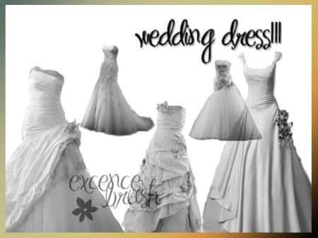婚礼用的婚纱笔刷