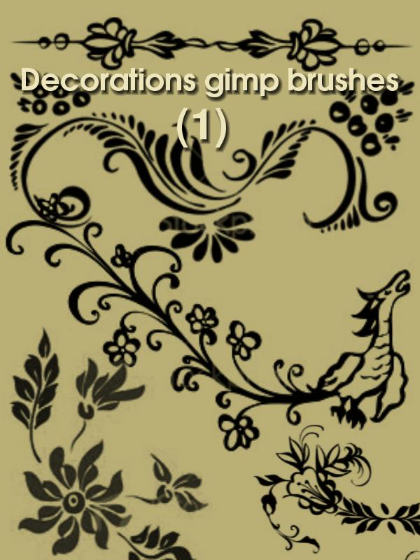 龙型花纹装饰背景笔刷