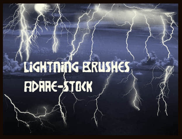 Lightning_brushes_by_Adaae_stock