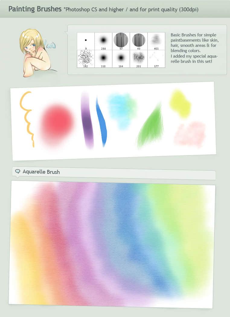 高质量水彩画笔