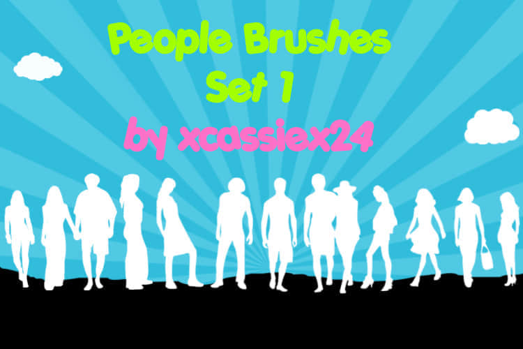 People_Brushes_Set_1_by_xCassiex24