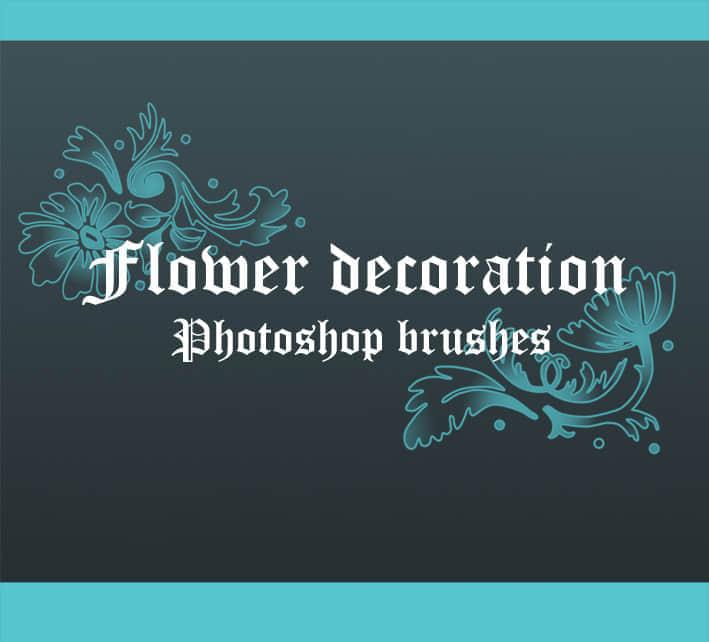 高贵的花卉装饰笔刷