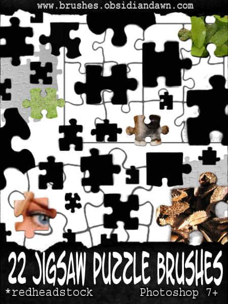 22种拼图类型笔刷