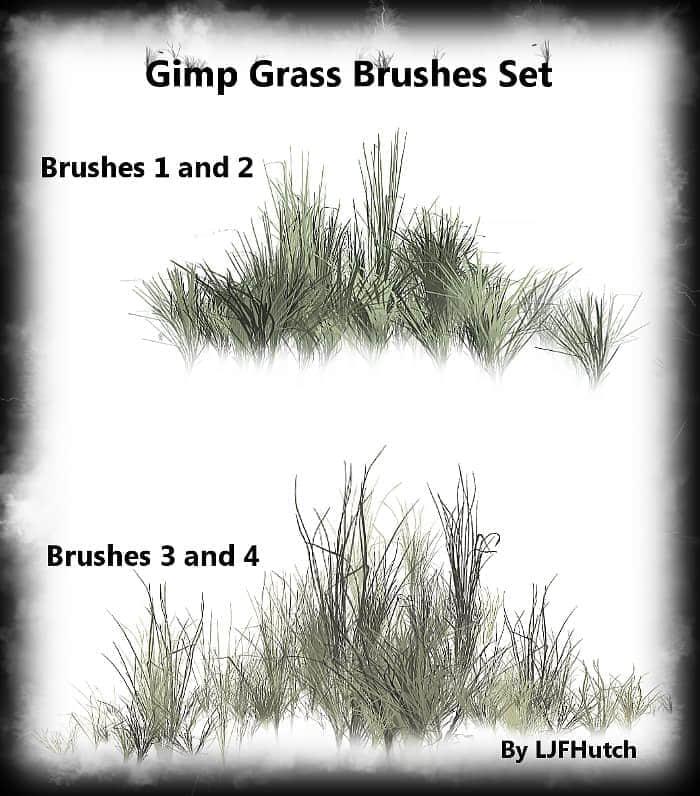 可设置的草地青草笔刷 青草笔刷 草地笔刷  plants brushes