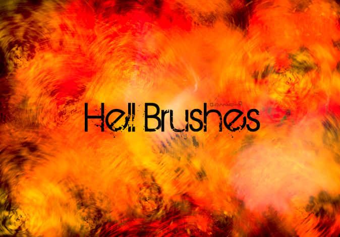 地狱火焰效果环境笔刷