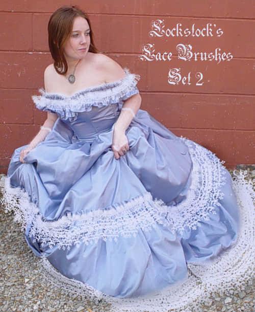 雪花式裙边装饰笔刷