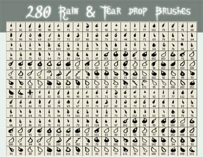 280种小雨滴笔刷