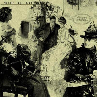 欧洲贵族黑白照片笔刷