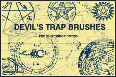 恶魔的魔法阵魔法符号笔刷