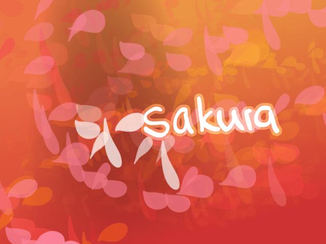 樱花花瓣矢量背景笔刷