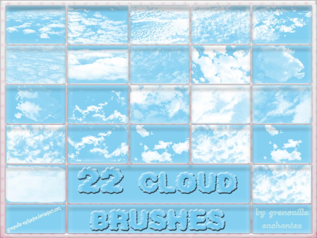 22种云朵变幻效果笔刷