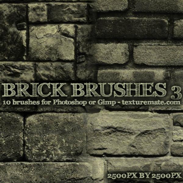 砖块墙壁纹理效果笔刷下载