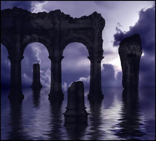 古罗马与雅典古石柱石门拱门笔刷下载