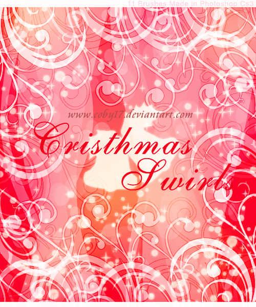 圣诞节的旋窝花纹笔刷