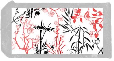 东方样式的印花花纹图案笔刷