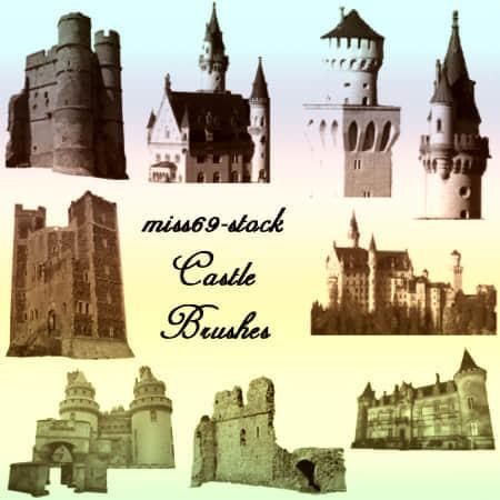 城堡塔楼笔刷下载
