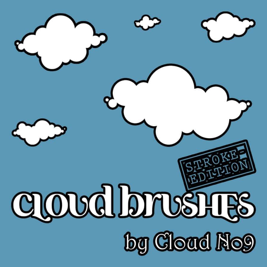 简单的卡通云朵笔刷