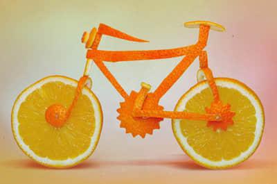 orange_bicycle_food_art