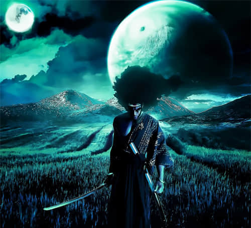 3-afro-samurai-swordsman-artworks-illustrations