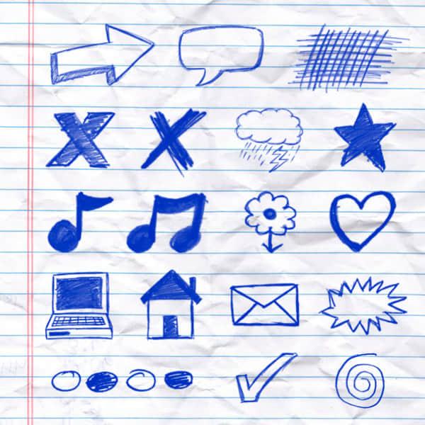 hand-drawn-doodle-brush-set