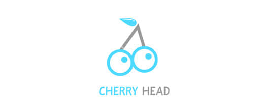 23-eyes-blue-cherry-logo-designs