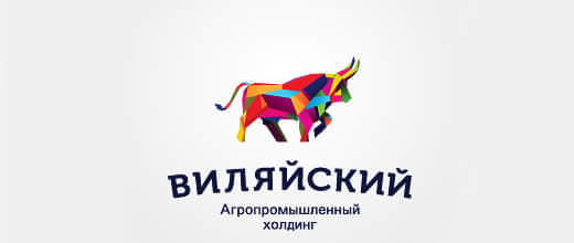 38-colorful-abstract-bull-logo-designs
