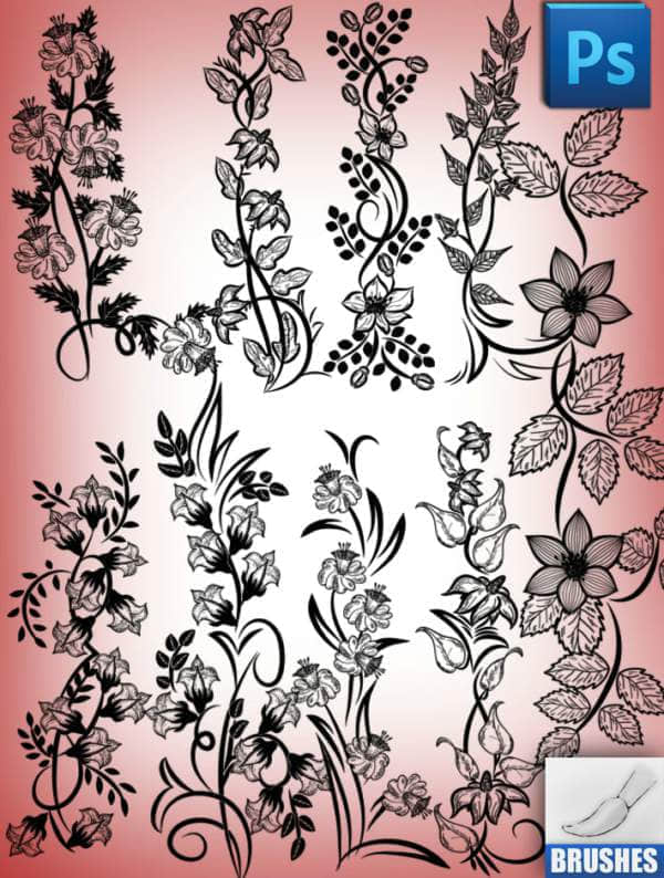 flowers brushes 3598