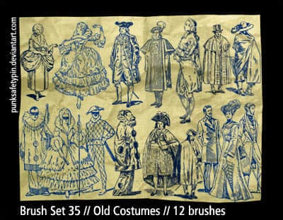 Brush_Set_35___Old_Costumes_by_punksafetypin