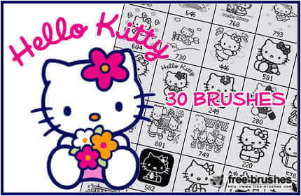 Hello_Kitty_Brushes_by_free_brushes