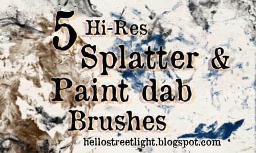 free_brush_set_20__splatter_and_paint_dabs