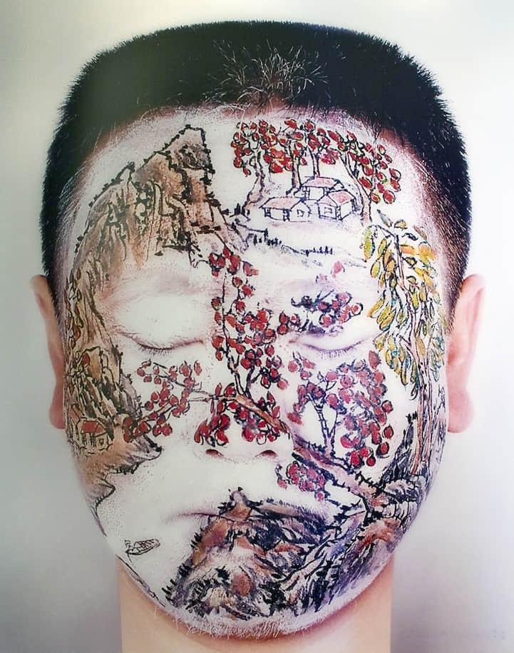 男人人体彩绘艺术 欧美人体艺术彩绘